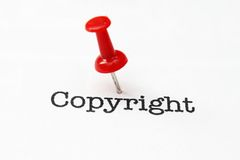 Copyright. Close up of Copyright concept stock photos