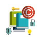 Copyright  concept  design Stock Image