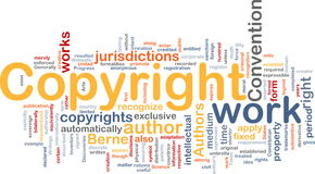 Copyright convention background concept Stock Photo