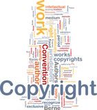 Copyright convention background concept royalty free illustration