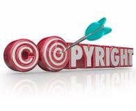 Copyright 3d vermelho exprime o olho de touros legal da seta do alvo do símbolo Imagens de Stock