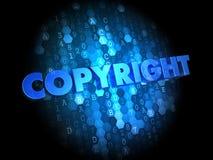 Copyright on Dark Digital Background. Stock Photography