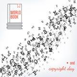 Copyright e giorno del libro Fotografia Stock Libera da Diritti