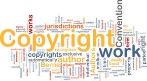 copyright för bakgrundsbegreppsregel vektor illustrationer