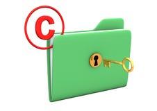 Copyright Folder Key Royalty Free Stock Photo