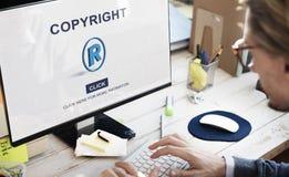 Copyright gatunku Biznesowego projekta tożsamości patentu pojęcie obraz royalty free