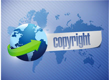 Copyright globe concept illustration design Royalty Free Stock Photos