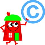 Copyright house Royalty Free Stock Photo