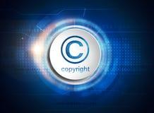 Copyright icon on digital background royalty free illustration