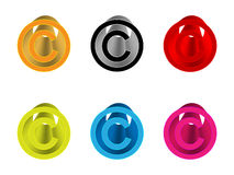 Copyright icons Royalty Free Stock Photography