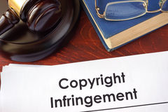 Copyright infringement form Royalty Free Stock Photography