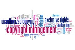 Copyright infringement Royalty Free Stock Images