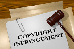Copyright Infringement - legal concept Royalty Free Stock Photo