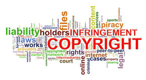Copyright infringement wordcloud vector illustration