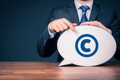 Copyright and intellectual property. Copyright, patents and intellectual property protection law and rights royalty free stock photography