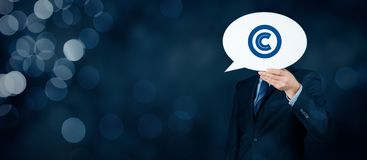 Copyright and intellectual property. Copyright, patents and intellectual property protection law and rights stock photo