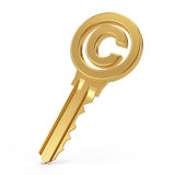 Copyright key Royalty Free Stock Image