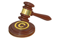Copyright laws and intellectual property concept, 3D rendering Stock Image