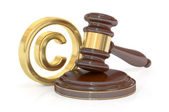 Copyright laws and intellectual property concept, 3D rendering Royalty Free Stock Photography