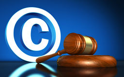 Copyright Laws Symbol Concept Royalty Free Stock Photos