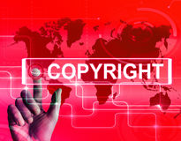 Copyright Map Displays International Patented Intellectual Prope Royalty Free Stock Photo