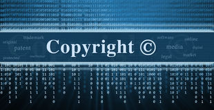 Copyright message concept Royalty Free Stock Photography
