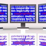 Copyright Monitoruje przedstawienia posiadanie intelektualista Lub Patentowany P royalty ilustracja