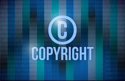 Copyright och binär illustrationdesign Arkivfoto