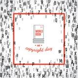 Copyright och bokdag Arkivbild
