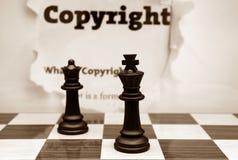 Copyright och schackbegrepp Royaltyfri Fotografi