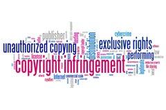 Copyright-overtreding vector illustratie