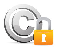 Copyright with padlock protection Stock Photography