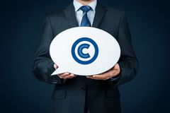 Copyright and intellectual property Royalty Free Stock Photo