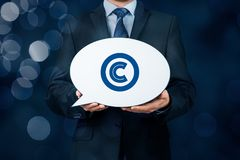 Copyright and intellectual property. Copyright, patents and intellectual property protection law and rights royalty free stock image