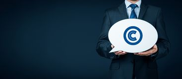 Copyright and intellectual property. Copyright, patents and intellectual property protection law and rights stock photos