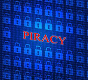 Copyright Piracy Means Protection License And Protected Stock Images