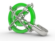 Copyright Protected with chains Stock Photography