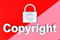 Copyright protection Royalty Free Stock Photos