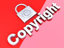 Copyright protection Royalty Free Stock Photography