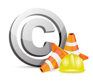 Copyright protection barrier concept Royalty Free Stock Photo