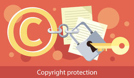 Copyright Protection Design Flat Royalty Free Stock Photo