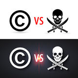 Copyright protection. Fight copyright piracy. Protection sign, authorship business Stock Photography