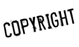 COPYRIGHT Rubber stämpel Fotografering för Bildbyråer