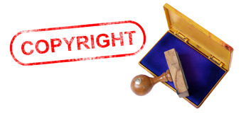 COPYRIGHT Rubber Stamp Stock Photos