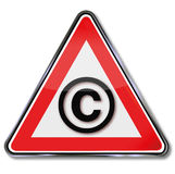 Copyright shield Royalty Free Stock Photos
