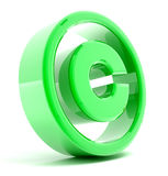 Copyright Sign. 3D rendered image Royalty Free Stock Photo