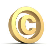 Copyright sign concept 3d illustration Royalty Free Stock Photography