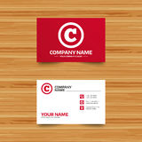 Copyright sign icon. Copyright button. Royalty Free Stock Photo