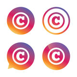 Copyright sign icon. Copyright button. Stock Images