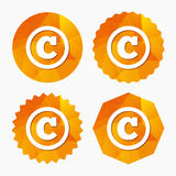 Copyright sign icon. Copyright button. Royalty Free Stock Photography